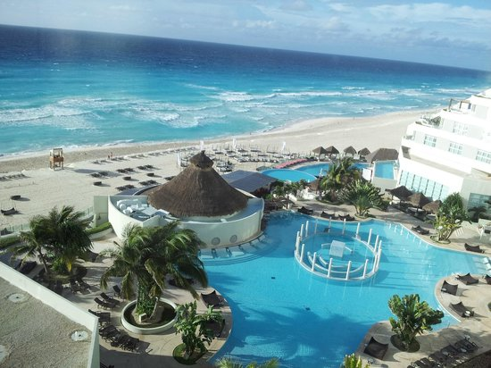 ME Cancun: View from our ocean view room on the 5th floor