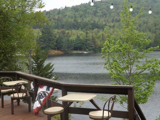 Big Moose Inn: View from the porch