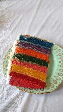 NonaLou's: Fat friday rainbow cake delicious :)
