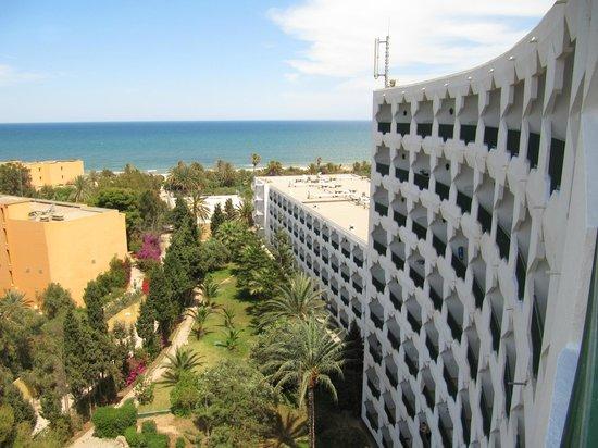 JAZ Tour Khalef Thalasso & Spa: Seaview from room on 7th floor
