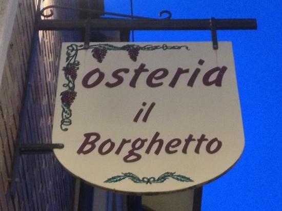 Osteria Il Borghetto: Potrebbe essere pubblicata come logo!