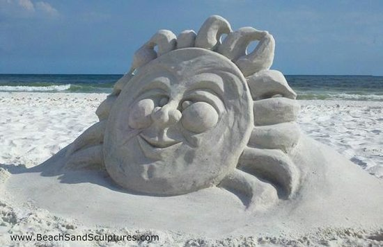 Seaside, FL: Summer Solstice by Beach Sand Sculptures