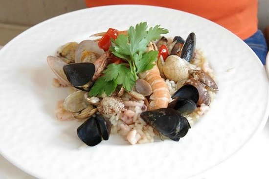 Torre Normanna Restaurant: Seafood risotto