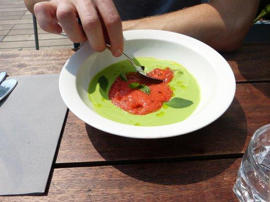 Petit pois fraise menthe soupe de petits pois la menthe cume de fraise picture of - Soupe petit pois menthe ...