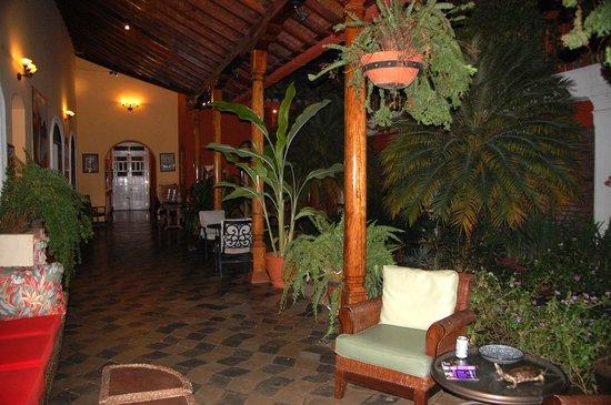 Casa Xanadu: Garden courtyard outside the rooms.