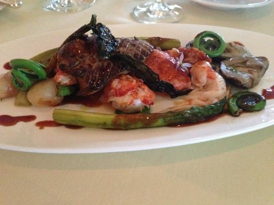 The Spiced Pear : Lobster and Foie Gras