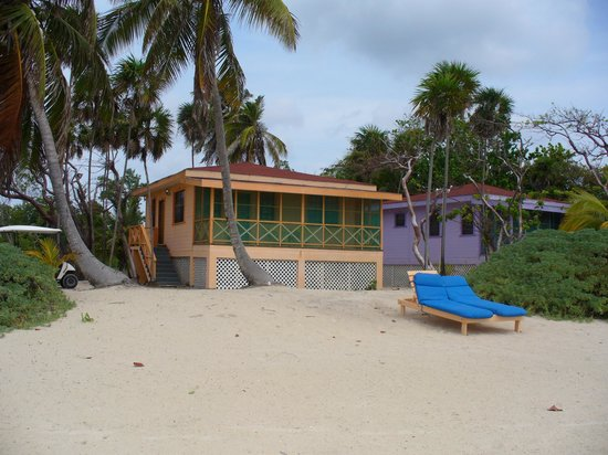 Blackbird Caye Resort: our front yard