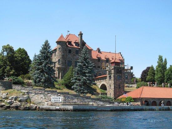 Singer Castle on Dark Island: Approaching Singer Castle