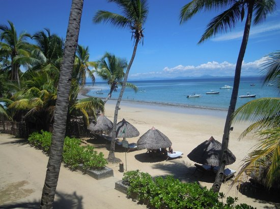 Royal Beach Hotel: la plage vue du restaurant