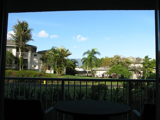 The Cliffs at Princeville: View from bedroom lanai