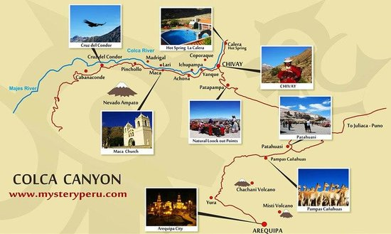 Marlon's Travel Tour Operator: Colca canyon Map