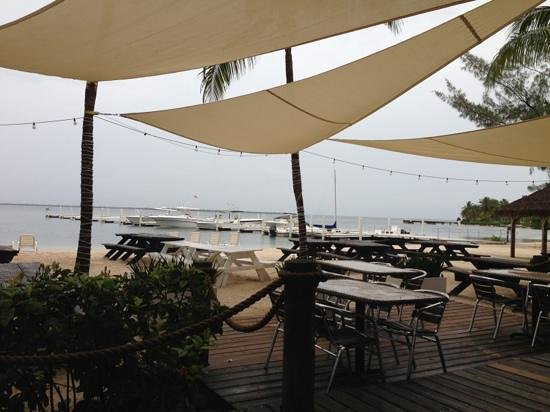 KAIBO Beach Bar & Grill: View from our table cloudy day