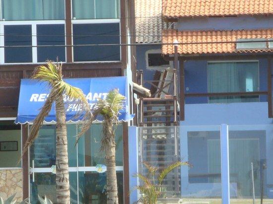 Pousada Laguna: El restaurante desde la playa