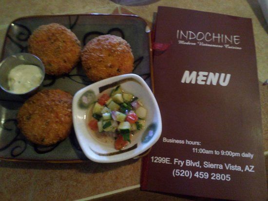 Indochine: Crab Cakes Appetizer