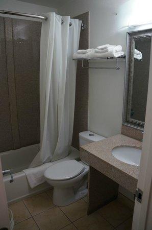 Towne Motel Alexandria: Salle de bain propre et fonctionnelle!