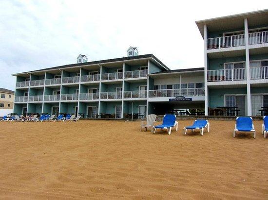 back of hotel picture of sugar beach resort hotel. Black Bedroom Furniture Sets. Home Design Ideas