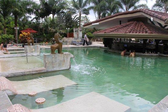The Royal Corin Thermal Water Spa & Resort: the main hot springs pool with bar