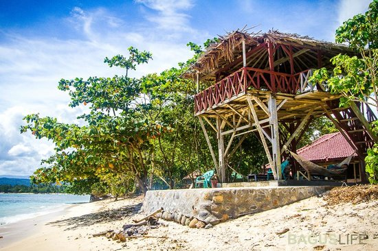Paradise Surf Camp: Hangout area and Wave lookout