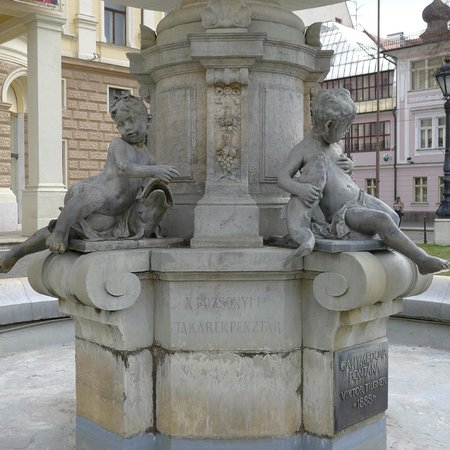Fountain in front of Slovak National Theatre