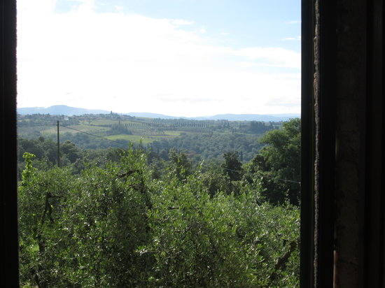 Agriturismo Poggio Bonelli : dalla finestra