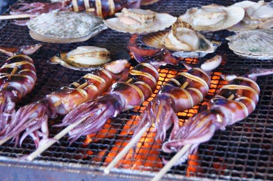 Narita Market: grilled squids