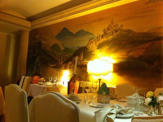 Hotel Villa Abbazia: Affresco nel ristorante - Panoramica veneta