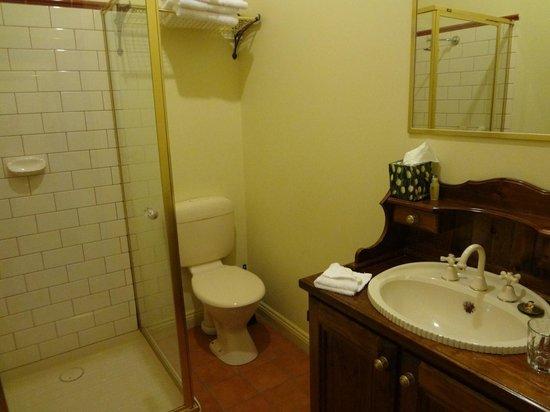 Melba Lodge: トイレとシャワースペース
