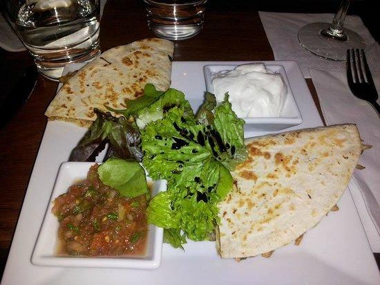 Hoffa: The Quesadilla all made fresh including the salsa sauce!!!
