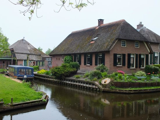 Giethoorn in The Netherlands