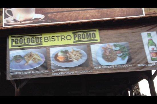 Prologue kitchen and bar