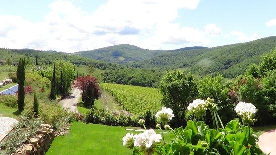 Hotel Villa Campomaggio Resort & Spa: panorama dal giardino