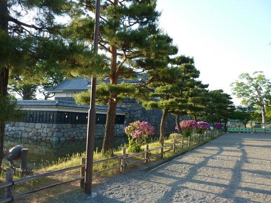 Path along Matsumoto Castle
