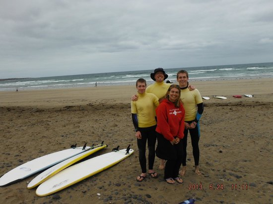 Surf School Lanzarote: McCauley clan getting ready for the surf
