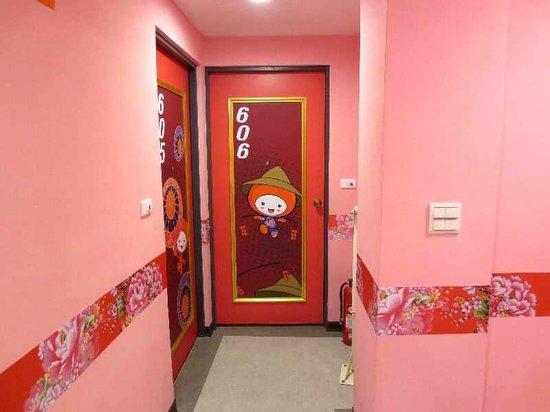 Persimmon Hotel : 8 6階の廊下