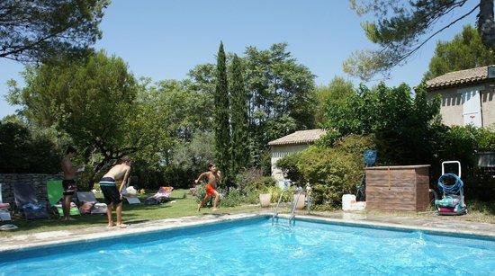 Le Mas des Anges : piscine et jardin