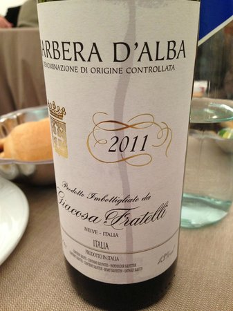 MARCELLO : Barbera d'Alba..great wine with fillet