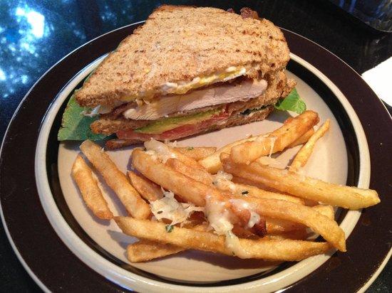 Julianna's American Bistro: Grilled Chicken Triple Decker Sandwich