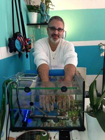 Fishness Fish Spa & Wellness: Génial pour les mains