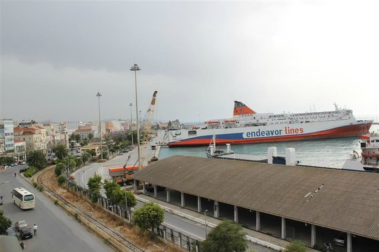 Patras Palace: View from room