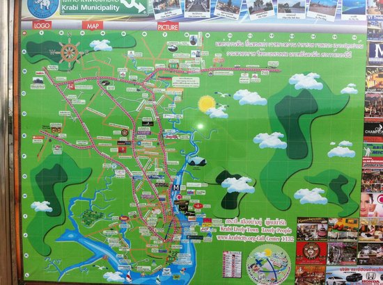 Good Dream Guesthouse: Map of Krabi town