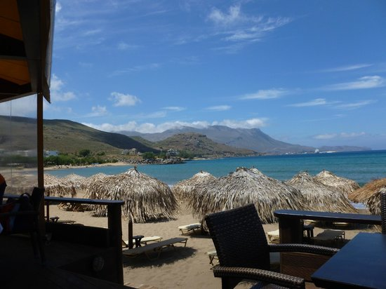 Maria Beach: view from the restaurant