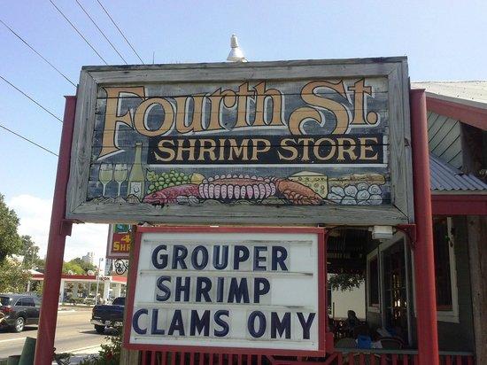 Fourth Street Shrimp Store: from street