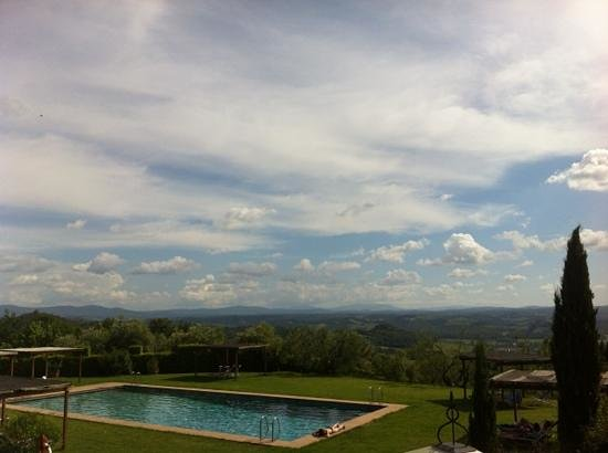 Castello di Pastine: astonishing swimming pool view