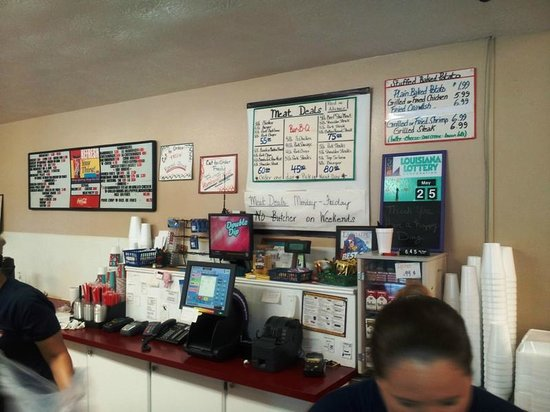Rabideaux's Sausage Kitchen: At the counter