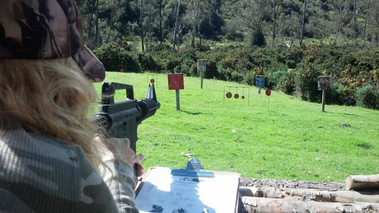 Estancia QH Ranch: Paintball range is awesome fun!
