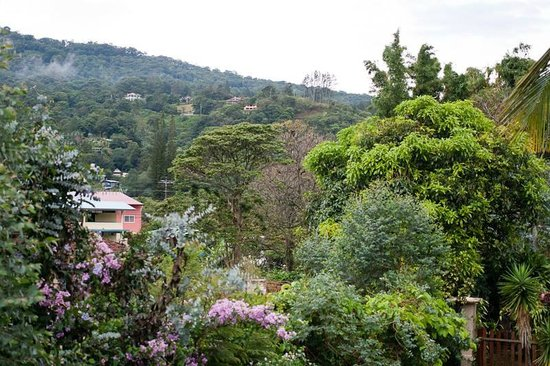 Isla Verde Hotel: view from the property up into the hills around boquete