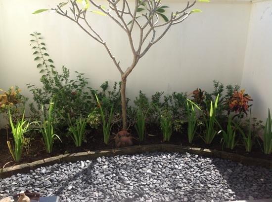Hotel Ombak Sunset: back garden