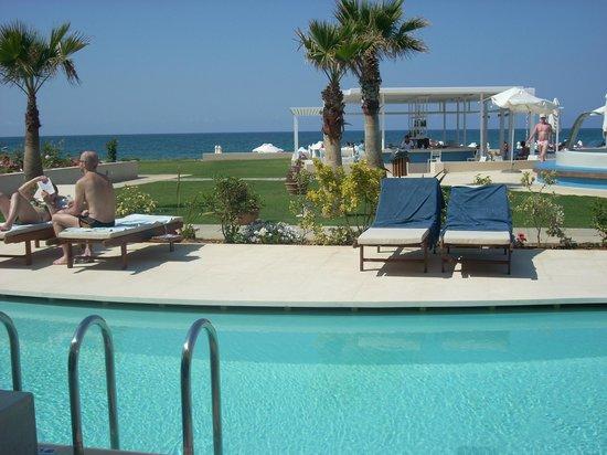 SENSIMAR KALLISTON Resort & Spa by ATLANTICA: view from terrace of swim up room