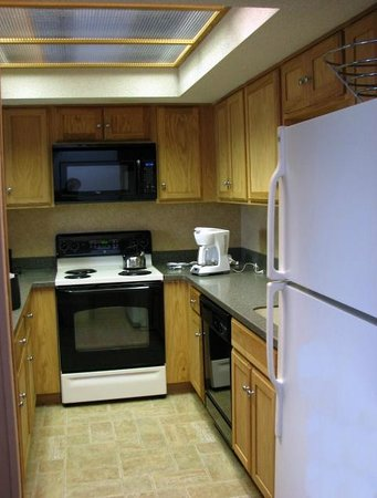 Fox Run Resort : Remodeled kitchens were very nice with new appliances.