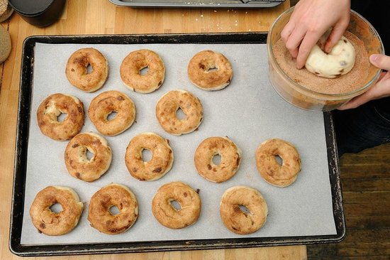 Big Bang Bagels: Raisins on the inside, cinnamon and sugar on the outside for a sweet treat.